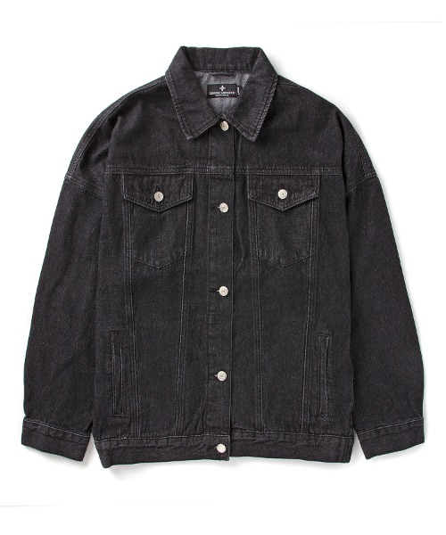 세인트페인SP ORACION DENIM JKT-BLACK