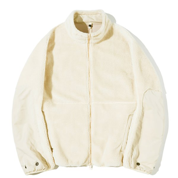 파르티멘토 Multiple Boa Fleece Jacket Beige