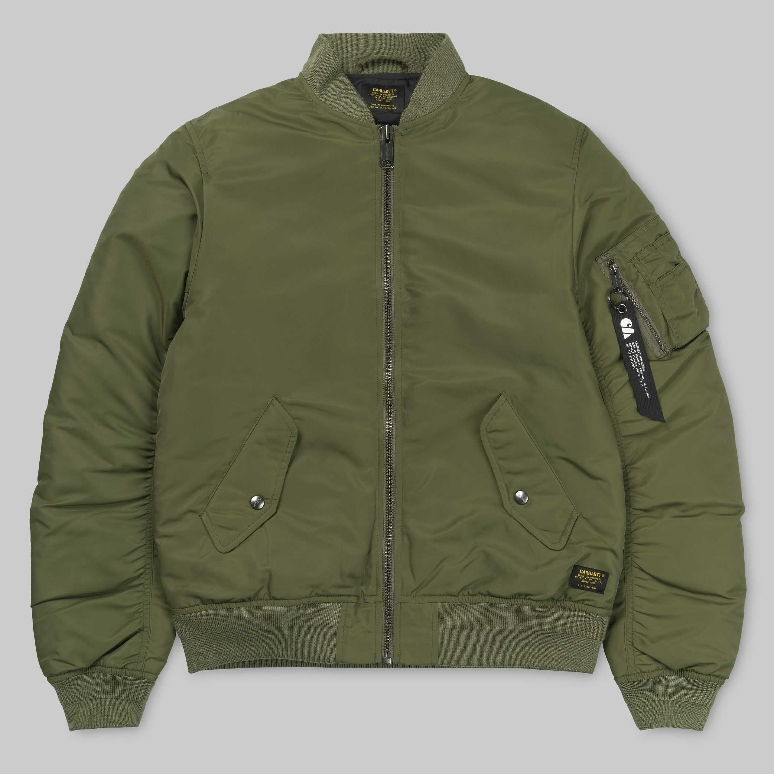 칼하트WIP애쉬톤 붐버자켓ASHTON BOMBER JACKETROVER GREEN