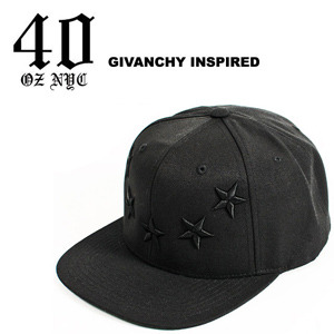 40OZ NYC Black on Black Givenchy Inspired Snapback 재입고!!